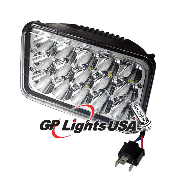 H4651/H466 4x6 inches HeadLamp 45w LED Conversion - Hid ... on